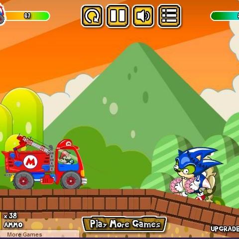 Марио грузовик мочит зомби
