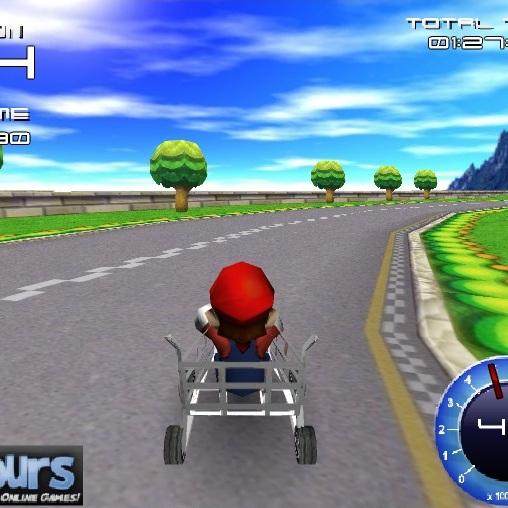 Марио гонки на тачках 3D