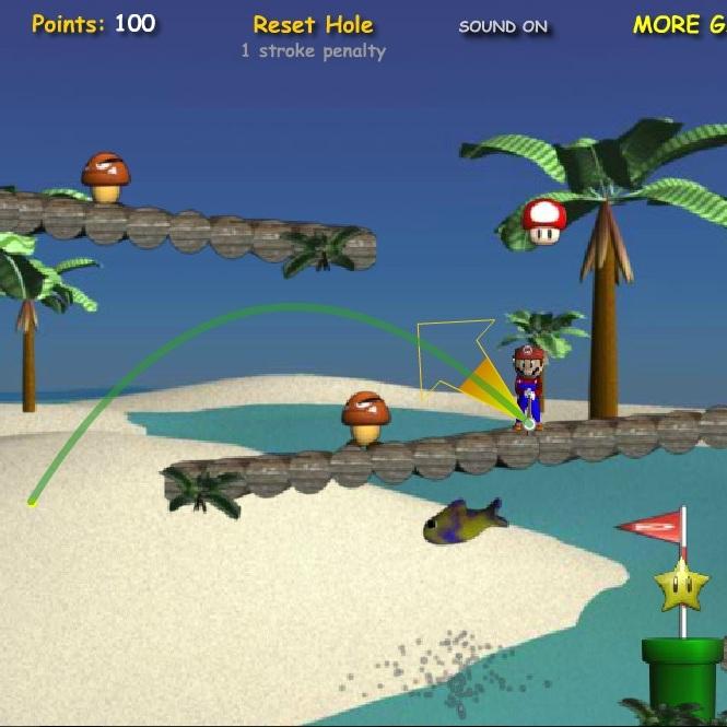 Марио гольф на пляже