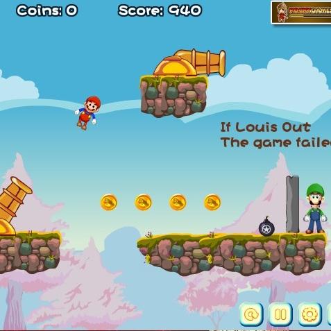 Полет Марио из пушки