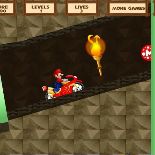Марио на спортивном мотоцикле
