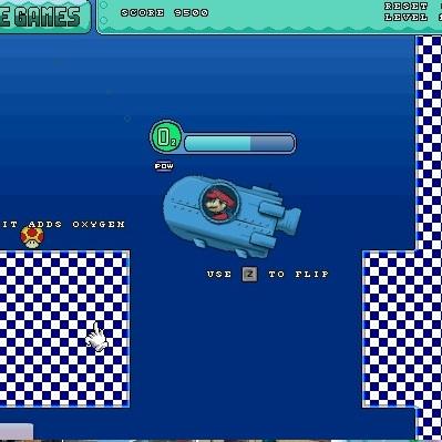 Марио на подводной лодке
