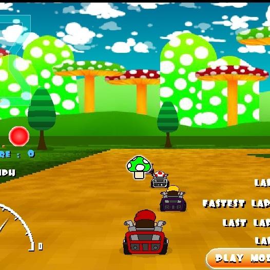 Марио езда на карте