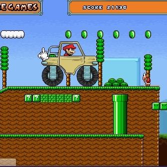 Марио на автомобиле монстре