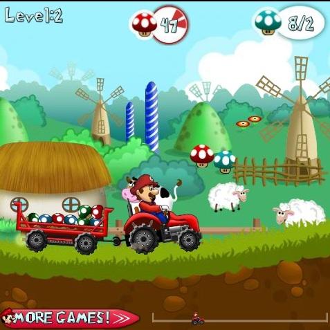 Марио перевозит грибы