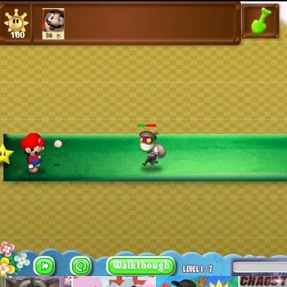Марио убивает монстров
