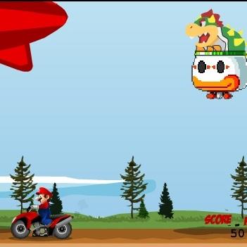 Марио уворачивается от бомб