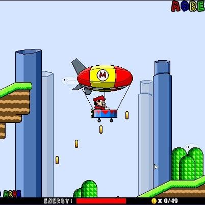 Марио на цеппелине