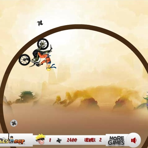 Наруто гонка на мотоцикле