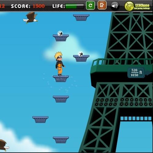 Наруто прыгун на башню